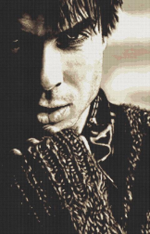 Vampire Diaries Cross Stitch - Ian Somerhalder - Andrey