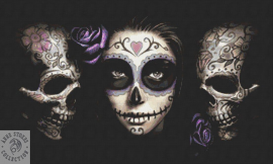 Day of the Dead Cross Stitch Chart PDF - Anne Stokes