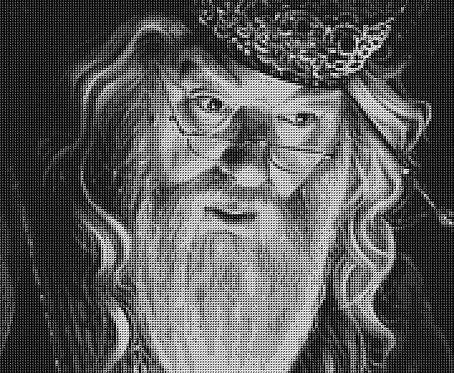 Dumbledore Cross Stitch Chart PDF Harry Potter