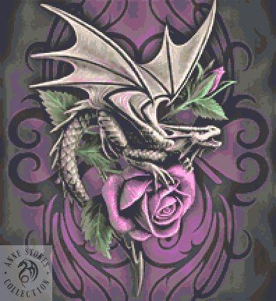 Dragon Beauty Cross Stitch Chart - Kit - Anne Stokes