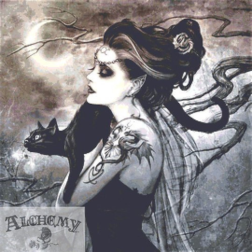 Minnaloushe Moon Cross Stitch PDF Chart - Alchemy Gothic