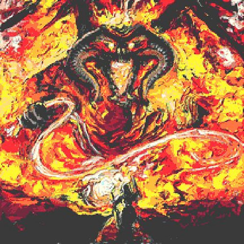 Gandalf vs Balrog Cross Stitch Chart - Kit - Lord of the Rings