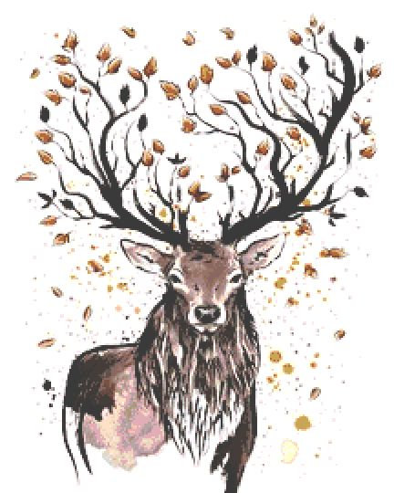 Autumn Deer Cross Stitch Kit - Chart