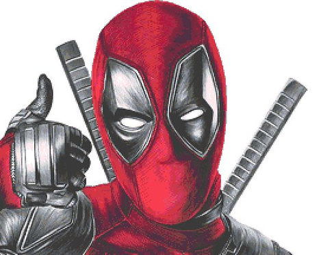 Deadpool Cross Stitch Chart - Kit - Marvel
