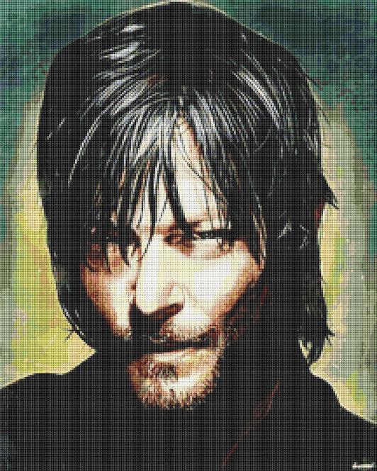 Daryl Dixon Cross Stitch - Walking Dead - Zombie - Andrey