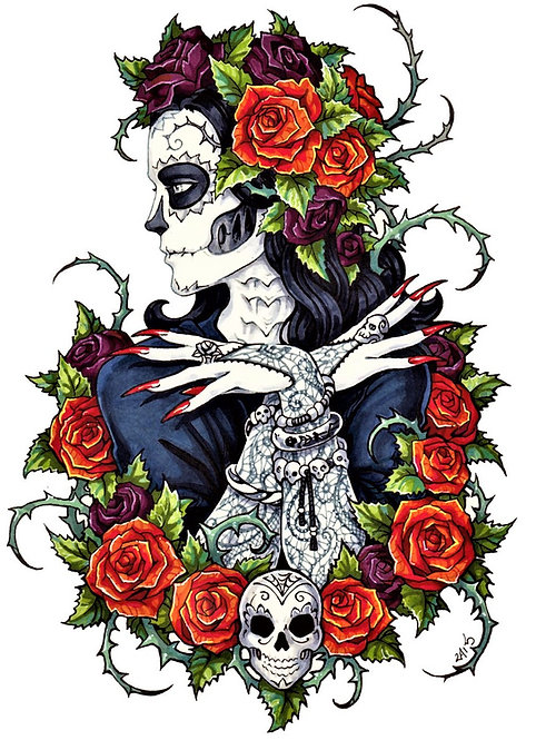 Calavera Cross Stitch Chart PDF