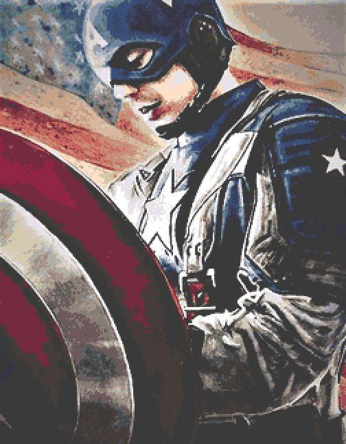 Captain America Cross Stitch Chart PDF