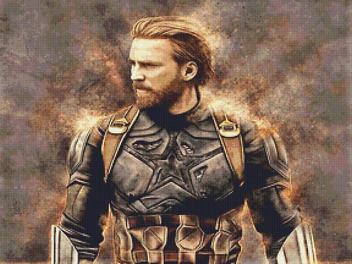 Captain America Cross Stitch - Marvel - Avengers - Andrey