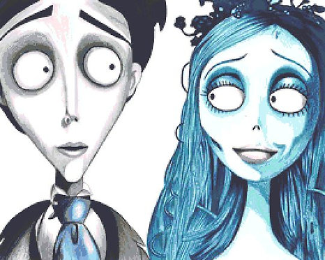 Corpse Bride Cross Stitch Chart - Kit - Horror - Fantasy