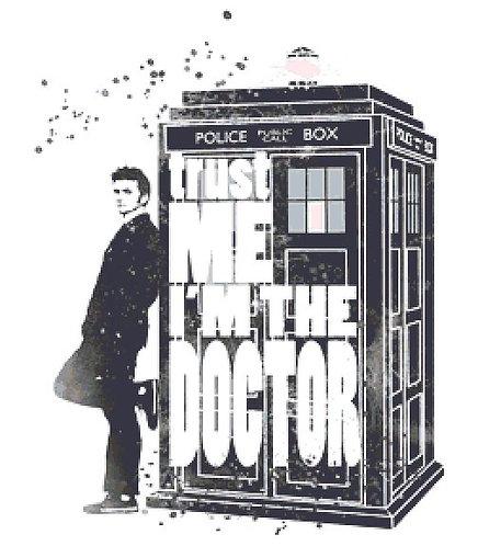 Trust Me Cross Stitch Chart - Kit - Dr Who  - David Tennant - Ideamarina