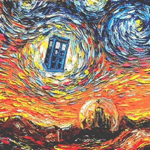 Dr Who Tardis Cross Stitch Chart - Kit