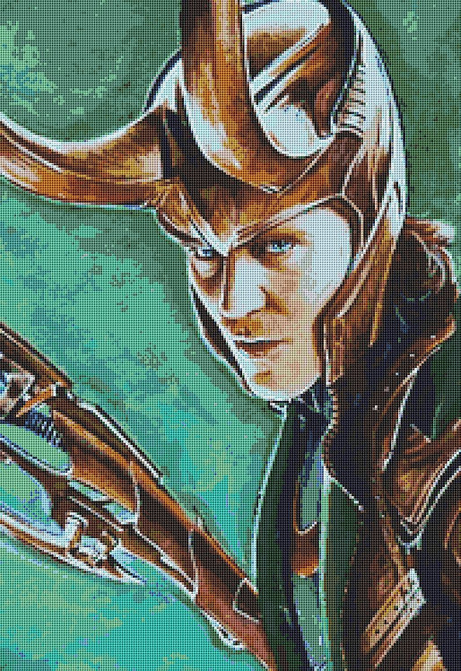 Loki Cross Stitch Chart PDF