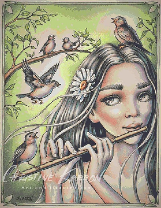 Birdsong Fairy Cross Stitch Chart - Kit