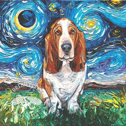 Basset Hound Cross Stitch Chart - Kit - Dog