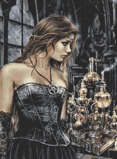 Alchemist Cross Stitch Chart - Kit  - Witch - Goth - Fantasy