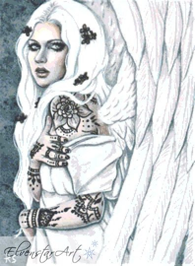 Alabaster Angel Counted Cross Stitch Kit