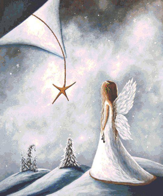 Christmas Star Cross Stitch Chart - Kit - Shawna Erback