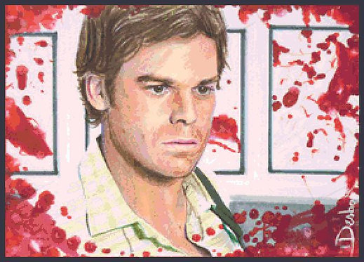 Dexter Cross Stitch  Chart - Kit - Desbois