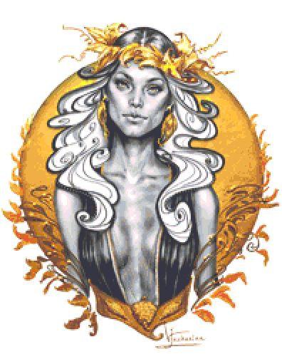 Demetra Cross Stitch - Fantasy - Goth - Goddess - Inna