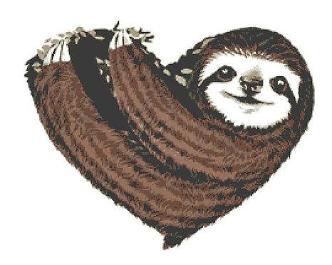 Sloth Cross Stitch Chart PDF