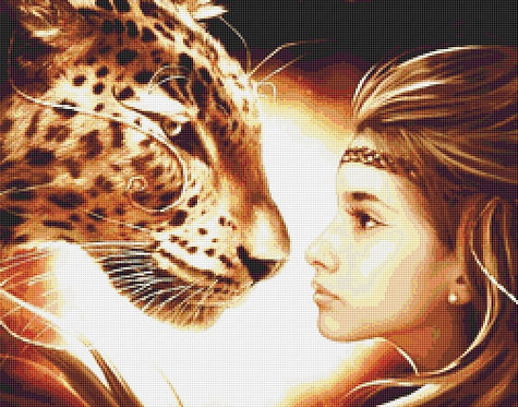 Cheetah Cross Stitch Chart - Kit - Friendship