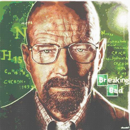 Breaking Bad Cross Stitch - Walter White - Andrey