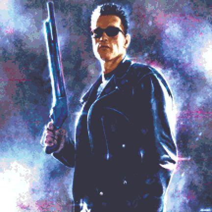 Terminator Cross Stitch Kit - Chart - Andrey