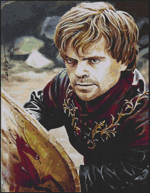 Large Code of Chivalry Cross Stitch Chart PDF - Game of Thrones - Tyrion