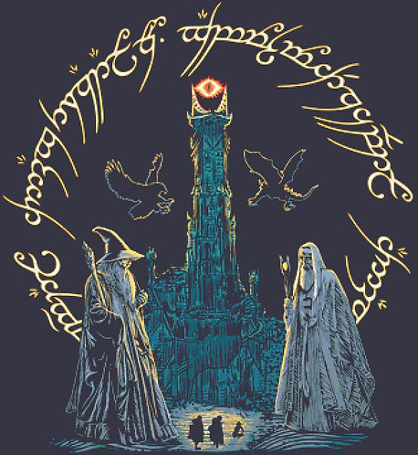 Wizards Meeting Cross Stitch  Chart - Kit - Lord of the Rings - The Hobbit