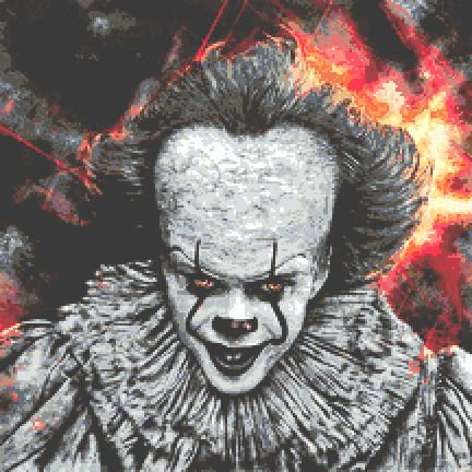 Pennywise Cross Stitch  - IT Clown - Horror - Andrey