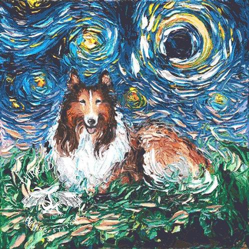 Collie Cross Stitch Chart - Kit - Dog