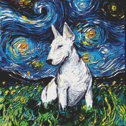 Bull Terrier Cross Stitch Chart PDF