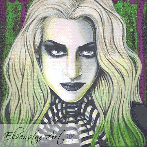 Ghoul Cross Stitch Chart -  Kit - Goth - Fantasy - Sinz