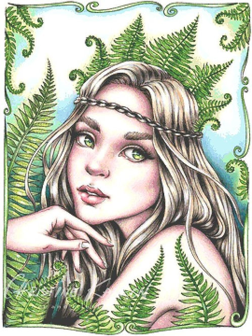 Fern Fairy Cross Stitch Chart - Kit
