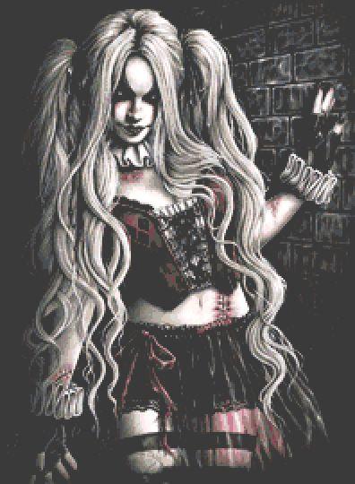 Harley Quinn Cross Stitch Chart PDF