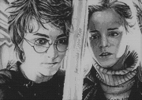 Battle A Dragon Cross Stitch Chart - Kit - Harry Potter - Hermione - Kupp