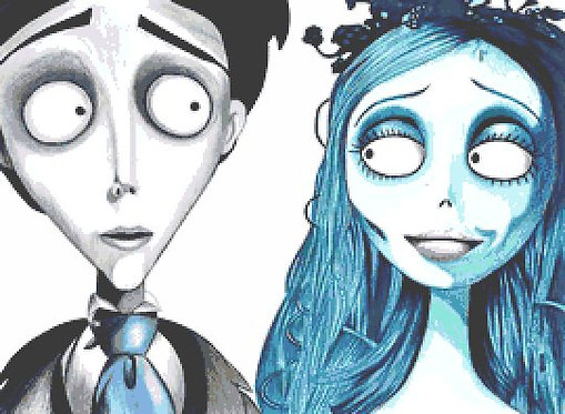 Corpse Bride Cross Stitch Chart PDF