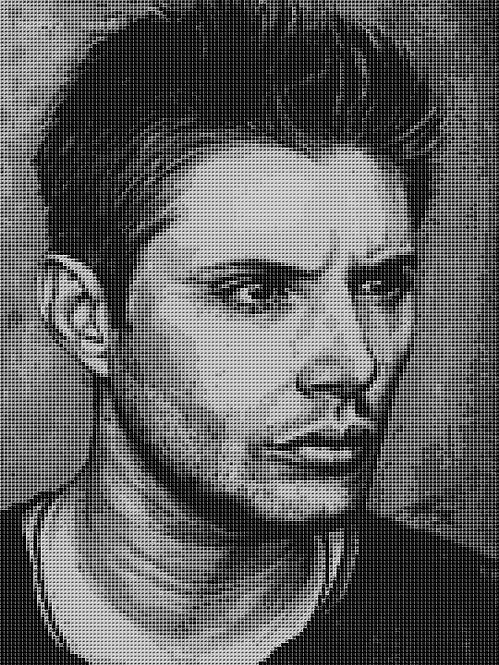 Dean Winchester Cross Stitch Chart - Kit - Supernatural - Kupp