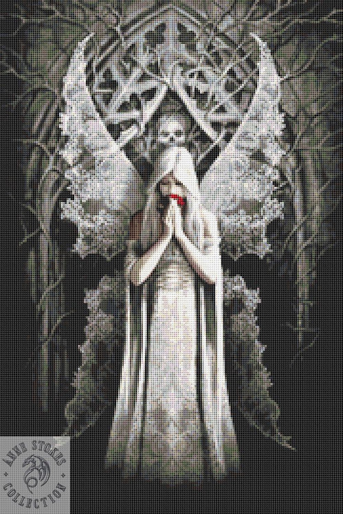 Only Love Remains Cross Stitch  Kit - Anne Stokes