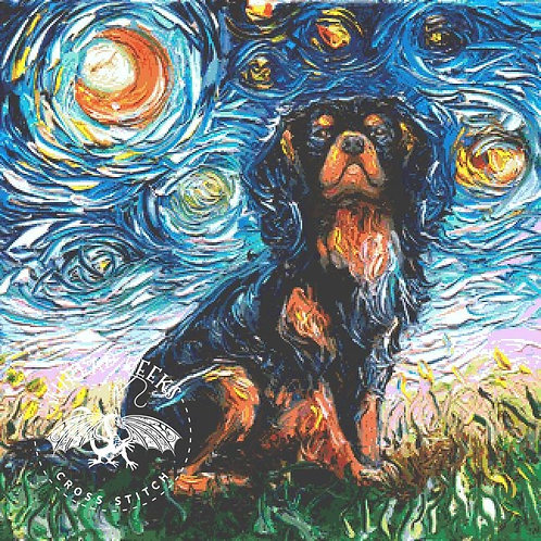 Cavalier King Charles Spaniel Cross Stitch Chart - Kit - Dog