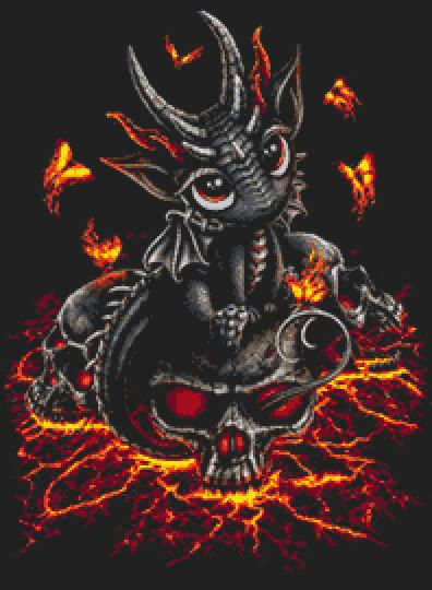 Baby Dragon Cross Stitch Chart PDF