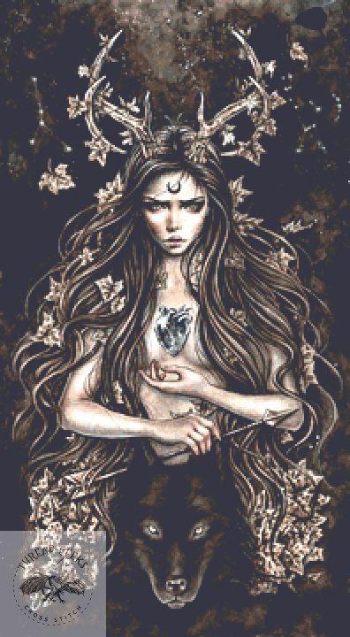 Artemisa Cross Stitch Chart - Kit  - Goth - Enys Guerrero