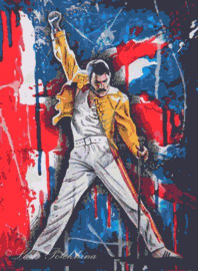 Freddie Mercury Cross Stitch Chart - Kit - Queen - Music