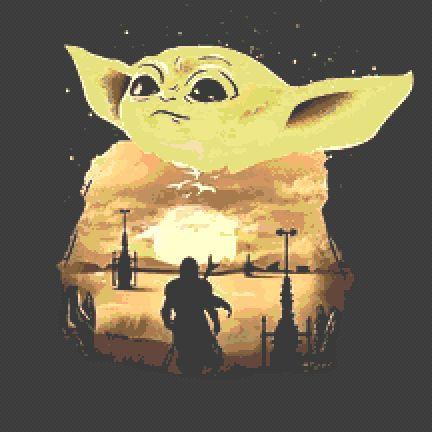 Baby Yoda Cross Stitch Chart PDF