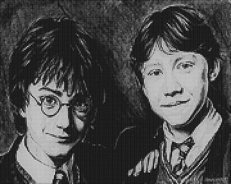 Best Friends Cross Stitch Chart - Kit - Harry Potter and Ron Weasley -Kupp