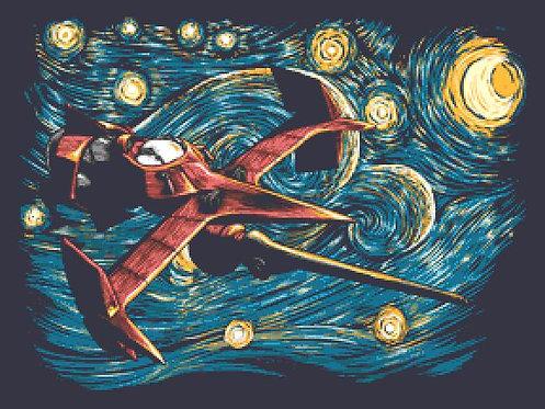 Starry Cowboy Cross Stitch  Chart - Kit - Djvigo