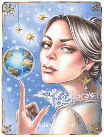 Queen of her World Cross Stitch Chart - Kit