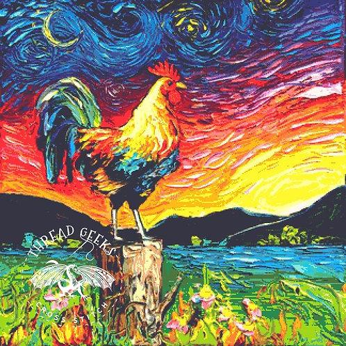 Cockerel Cross Stitch Chart - Kit - Rooster