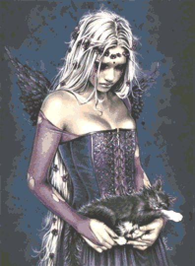 Angel of Death Cross Stitch Chart - Kit - Victoria Frances - Goth - Fantasy