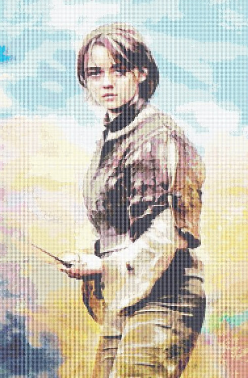 Arya Stark Cross Stitch - Game of Thrones - Andrey